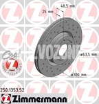 Front brake disc (300mm) P1 C30/C70 II/S40 II/V50 perforated