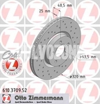 Front brake disc (320mm) P1 C30/C70 II/S40 II/V50 perforated