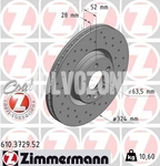 Front brake disc (328mm) P3 XC60 (2016-) RE0A (full around the center) perforated