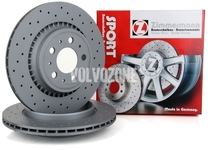 Rear brake disc (308mm) P3 XC90 perforated