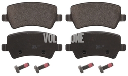 Rear brake pads (electric parking brake)(solid disc) P3 S80 II/V70 III/XC70 III