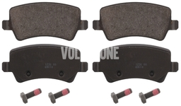 Rear brake pads (electric parking brake)(ventilated disc) P3 S60 II(XC)/V60(XC) XC60 S80 II/V70 III/XC70 III