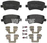 Rear brake pads (electric parking brake)(ventilated disc) P3 S60 II(XC)/V60(XC) XC60 S80 II/V70 III/XC70 III