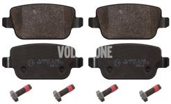 Rear brake pads (manual parking brake)(solid disc) P3 S80 II/V70 III/XC70 III
