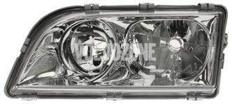 Headlight left dual S40/V40 (1999-) chrome 4 PIN
