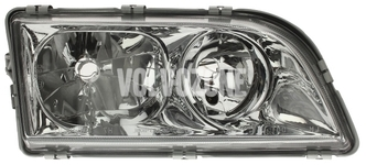 Headlight right dual S40/V40 (1999-) chrome 4 PIN