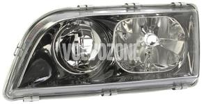 Headlight left dual S40/V40 (2000-2002) black