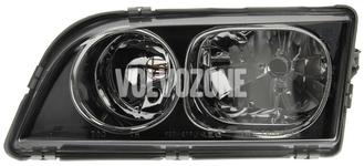 Headlight left dual S40/V40 (2003-) black
