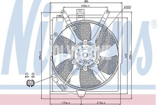 Radiator cooling fan solo 1.6/1.8/2.0 (2000-) S40/V40