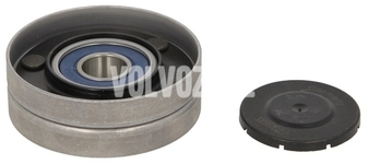 Auxiliary belt pulley on tensioner gasoline engines P80 (-1998), X40 (-1999)
