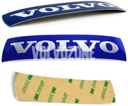 Steering wheel Volvo emblem sticker 46x11 mm (2010-) P1 P3 - measure dimensions, 2 types exist