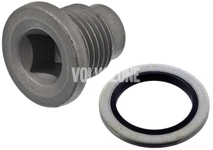 Oil drain plug with sealing X40 diesel engines