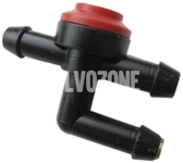 Washer water cleaning valve T-shape
