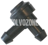 Washer water cleaning valve L-shape