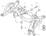 Bushing rear axle subframe - main control arm P2 XC90