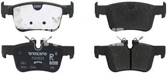 Rear brake pads (302mm diameter) SPA S60 III/V60 II(XC) S90 II/V90 II(XC) XC60 II Variant code RC01