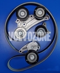 Auxiliary belt kit 4 cylinder gasoline engines without Twin Engine (2014-) 2.0 T6/Polestar P3 SPA