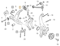 Front control arm left SPA S60 III/V60 II