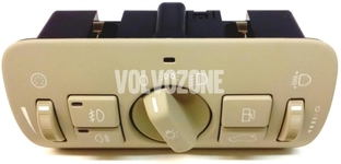 Headlight combination switch P3 S80 II/V70 III/XC70 III/XC60 halogen lights, beige