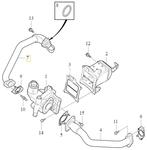 EGR valve pipe 2.0 D2/D3/D4/D5 (2014-) P1 P3 SPA