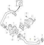 EGR valve pipe 2.0 D2/D3/D4/D5 (2014-) P1 P3 SPA/CMA