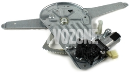 Window winder mechanism front right P2 S80 with motor, passenger side