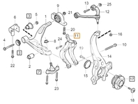 Front control arm fork left SPA S60 III/V60 II