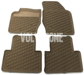 Floor rubber mats P2 XC90 mocca brown