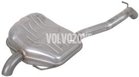 Exhaust end silencer 5 cylinder engines 2.0 D3/D4 P1 (2012-) S80 II/V70 III/XC70 III, 2.4D/D5 (-2011 with AWD) V70 III/XC70 III