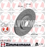 Rear brake disc (320mm) SPA S60 III/V60 II(XC) S90 II/V90 II(XC) XC60 II/XC90 II perforated