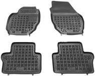 Rubber carpets with raised edges P3 S80 II/V70 III/XC70 III - off black
