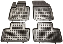 Rubber carpets with raised edges SPA XC90 II - off black