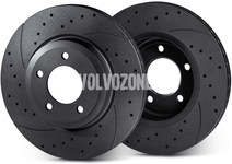 Front brake discs pair (336mm) P2 XC90 perforated/slotted