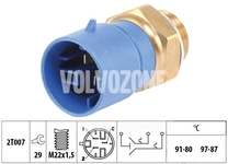 Radiator fan temperature switch 1.9TD/DI S40/V40 (3 poles - vehicles with air conditioning)